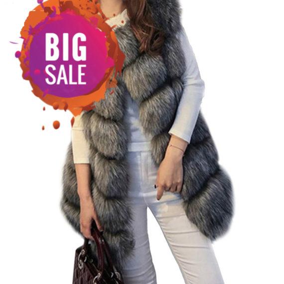 Women's Faux Fur Vest Coat